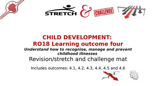 revision/s & challenge mat R018 LO4 Child Development: Recognise, manage & prevent childhood illness