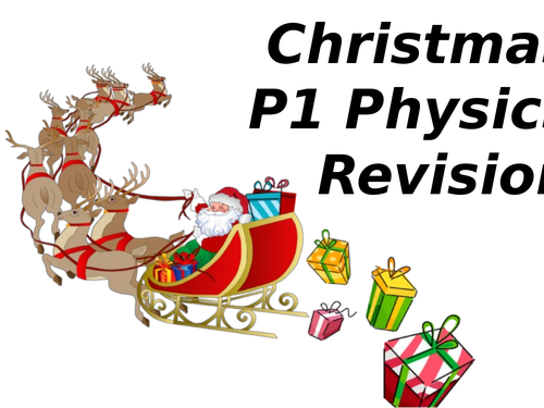 GCSE Physics Christmas Revision (P1 Forces)