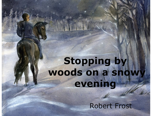 stopping by woods on a snowy evening images