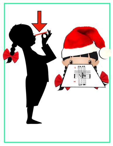 Message magique: devinette de Noël