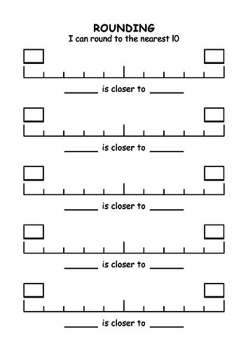 Rounding master worksheet