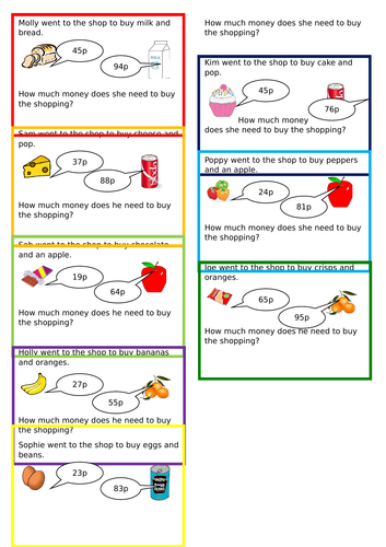 Money - Year 2 including problem solving, fluency and reasoning.