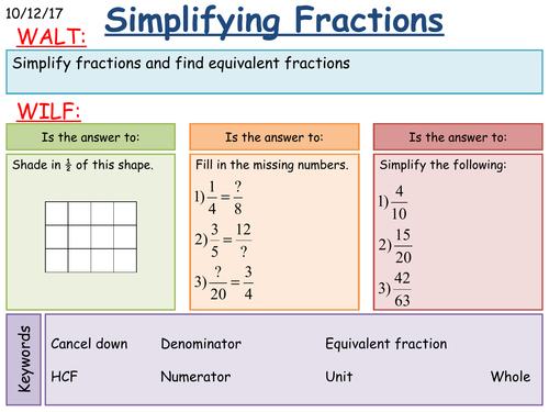 KS3 Maths: Simplifying Fractions