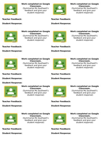 Google Classroom Marking Stickers
