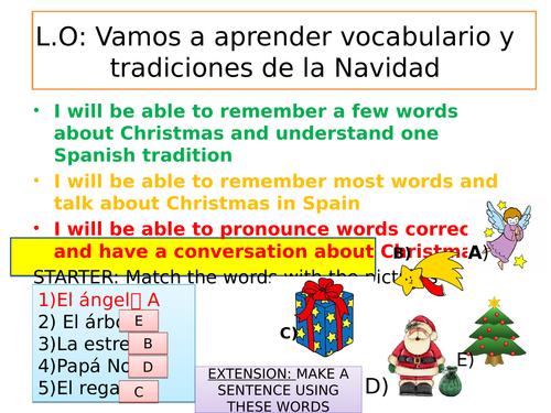 Christmas lesson Spanish Navidad