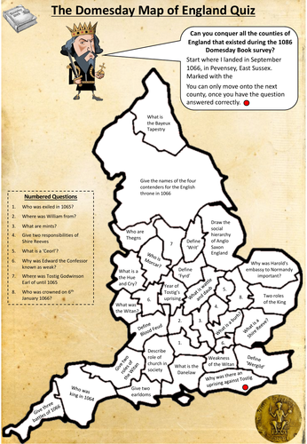 Map Of Uk Counties Quiz.Ks4 History Anglo Saxon And Norman England Map Quiz Pdf