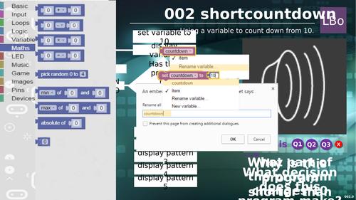 Micro:bit tutorial 2 SHORT COUNTDOWN