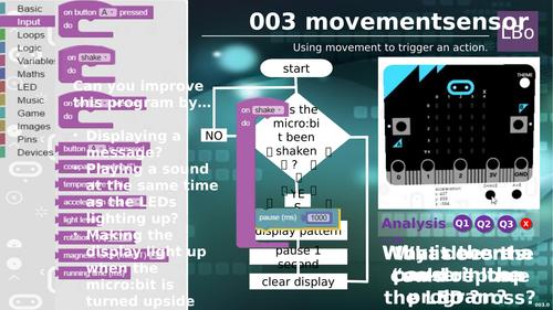 Micro:bit tutorial 3 MOVEMENT SENSOR