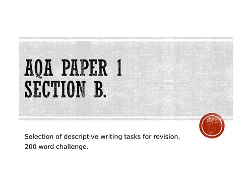 Christmas descriptive writing challenge x 5