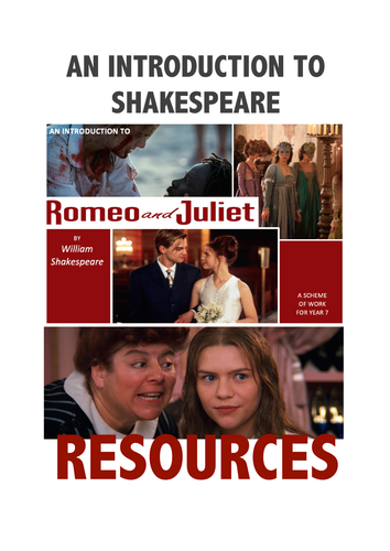 YEAR 7 RESOURCES - An Introduction to Shakespeare.