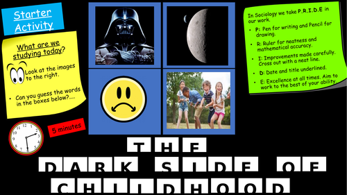 GCSE Eduqas Sociology. The Dark side of childhood