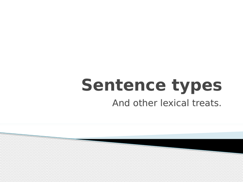 AQA English Language A-Level - Sentence Types and Grammar