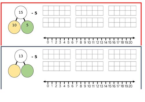 Subtraction crossing 10, Year 1, Spring Block 1