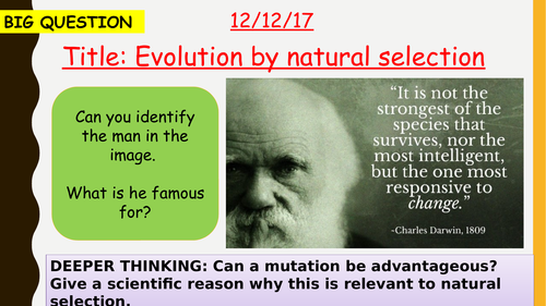 AQA new specification-Evolution by natural selection-B13.2