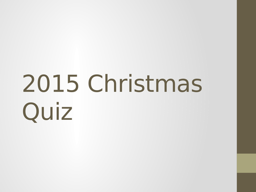 The Very Best Geography Quiz (Christmas)