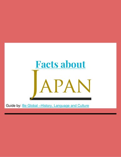 Facts about Japan - Reading Guide