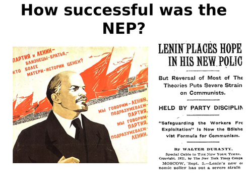 How successful was the NEP?