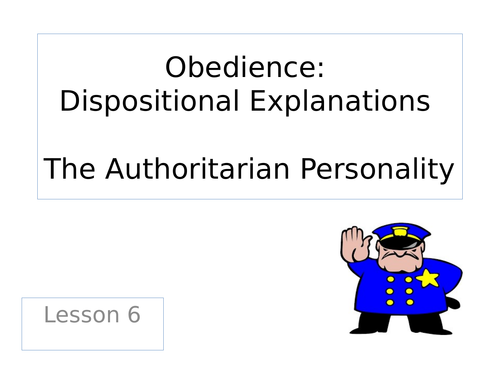 Paper 1 The Authoritarian Personality