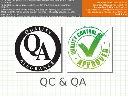 Quality Control/Quality Assurance