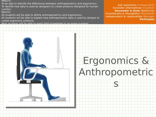 Ergonomics & Anthropometrics