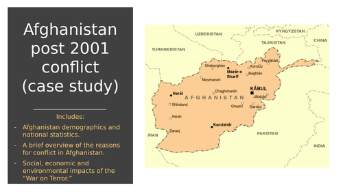 A LEVEL GEOGRAPHY AFGHANISTAN CONFLICT CASE STUDY