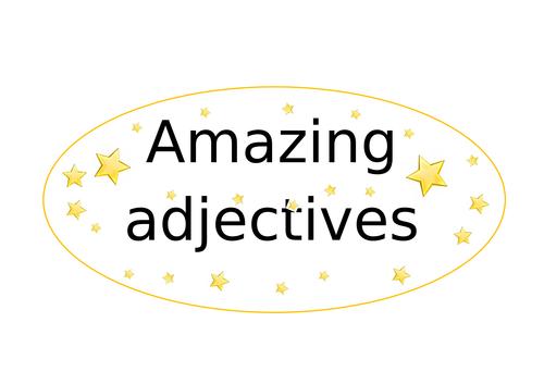 Amazing Adjectives Literacy/ English display wall poster