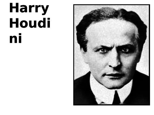 Harry Houdini Source Analysis Activity by sfy773 | Teaching