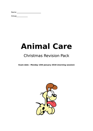 Animal Care Unit One Section A Revision Questions