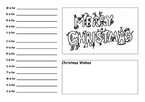 Merry Christmas Acrostic Poem Teaching Resources