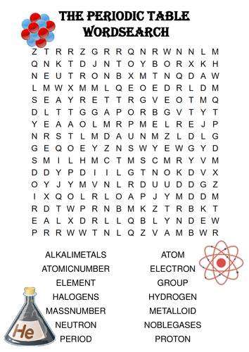 Atom And Periodic Table Word Search Answers | Brokeasshome.com