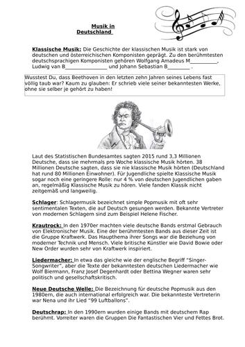 German A Level Musik in Deutschland whole lesson