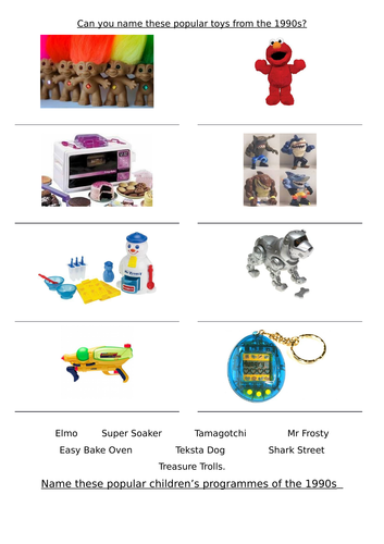 1990's toys and tv