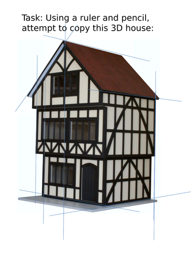 Building a tudor house by mrmdlewis teaching resources - What makes a house a tudor ...