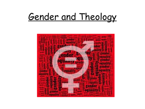 A Level OCR Gender and Theology Daly and Ruether