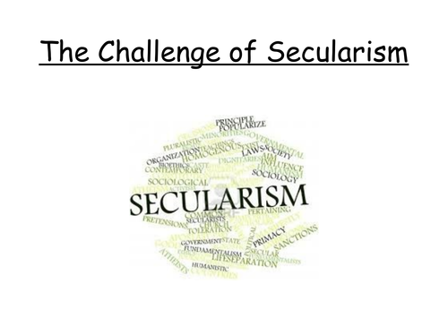 Is the world becoming secular Lesson 1