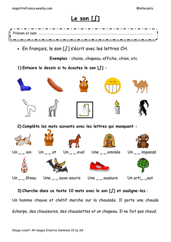worksheets about french phonetics by mllecanto teaching resources. Black Bedroom Furniture Sets. Home Design Ideas