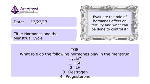Hormones and the Menstrual Cycle - AQA (9-1)