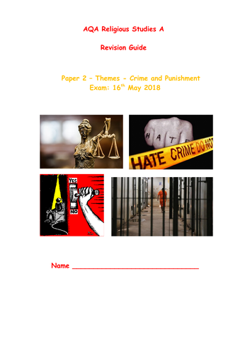AQA A Religious Studies GCSE - Crime and Punishment Revision Guide