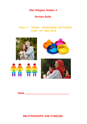 AQA A Religious Studies GCSE - Relationships and Families Revision Guide