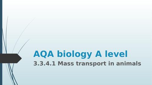 AQA biology A level 3.3.4.1 mass transport in animals