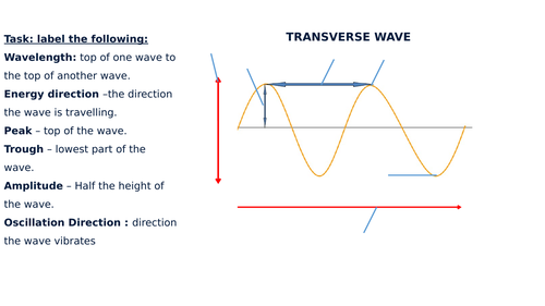 Transverse & Longitudinal Wave Diagram Label Worksheets (Differentiated)