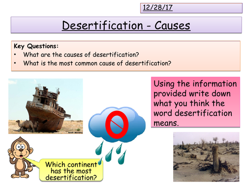 Causes of Desertification