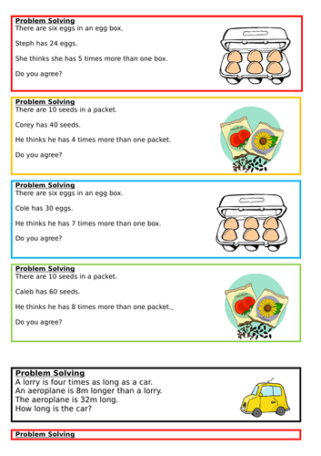 Scaling unit, from multiplication and division, Spring Block 1, Year 3