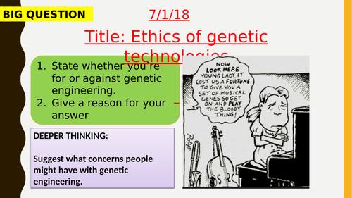 AQA new specification-Ethics of genetic technologies-B14.7