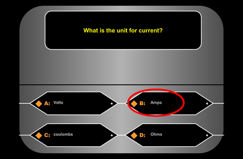 Voltage = Current x Resistance | Who Wants to be a Millionaire | Game | Revision