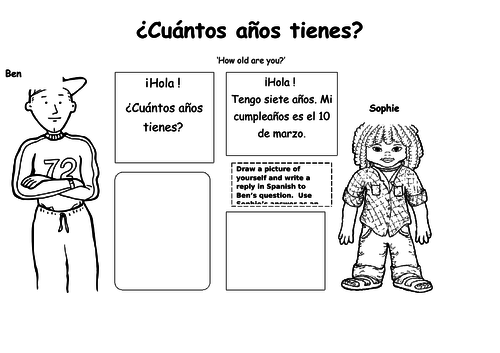 Spanish Months and Age - How old are you? KS1/2