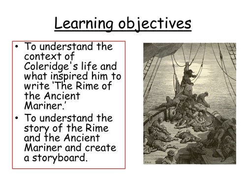 Rime Of The Ancient Mariner Ks3 By Kesithana Teaching Resources Tes