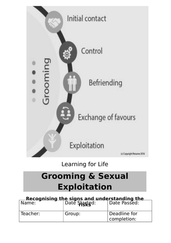 Grooming and Sexual Exploitation Workbook