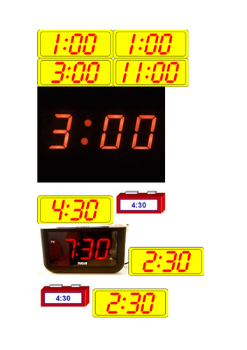 Time activities analogue and digital