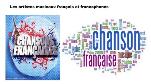Liste de chanteurs/euses et groupes francophones